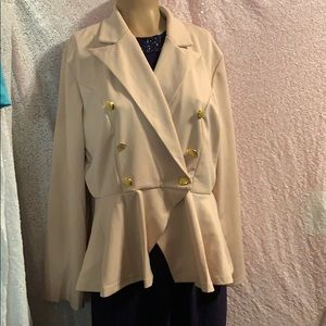 New Jacket taupe size Large women's w/tags